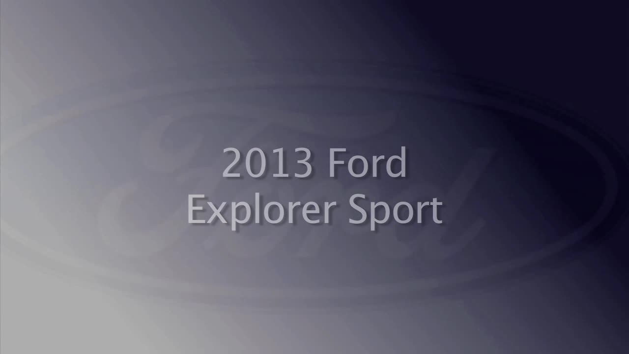 2013 Ford Explorer Sport About Town