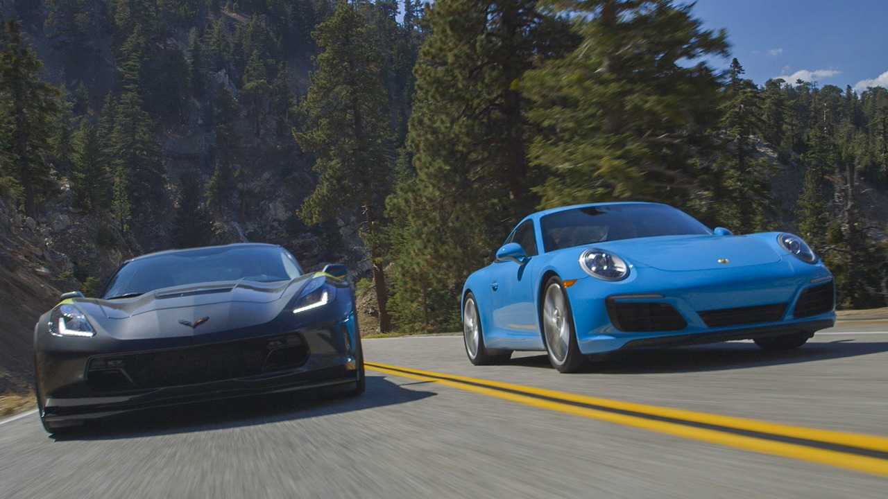 2017 Chevrolet Corvette Grand Sport vs. Porsche 911 Carrera S