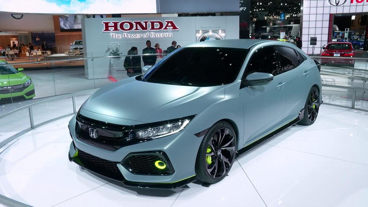 2017 Honda Civic 4-Door Hatchback New York Auto Show