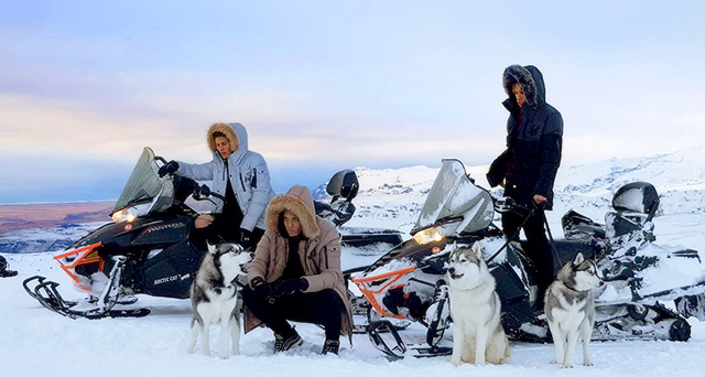 Huskys and Snowmobiles