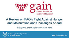 Global Alliance for Improved Nutrition (GAIN) assesses the work for Zero Hunger by FAO and Director-General José Graziano da Silva, and explores the road ahead