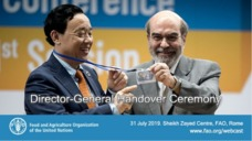 FAO Director-general hands over ceremony